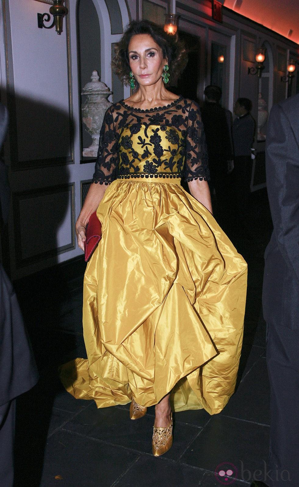 Nati Abascal en la 2011 Gold Medal Gala en Nueva York