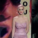 Katy Perry en la gala de los nominados a los Grammy 2012