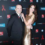 Eugenia Silva y Miguel Bosé en la gala de la Fundación Lluita contra el sida