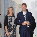 La Infanta Cristina con su marido Iñaki Urdangarín en una boda