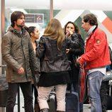 Chenoa, Curi Gallardo y Juan Peña en la estación del AVE