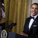 Barack Obama durante su discurso en la Gala Kennedy 2011