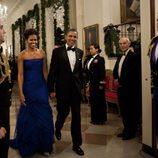 Barack y Michelle Obama a su llegada a la Gala Kennedy 2011