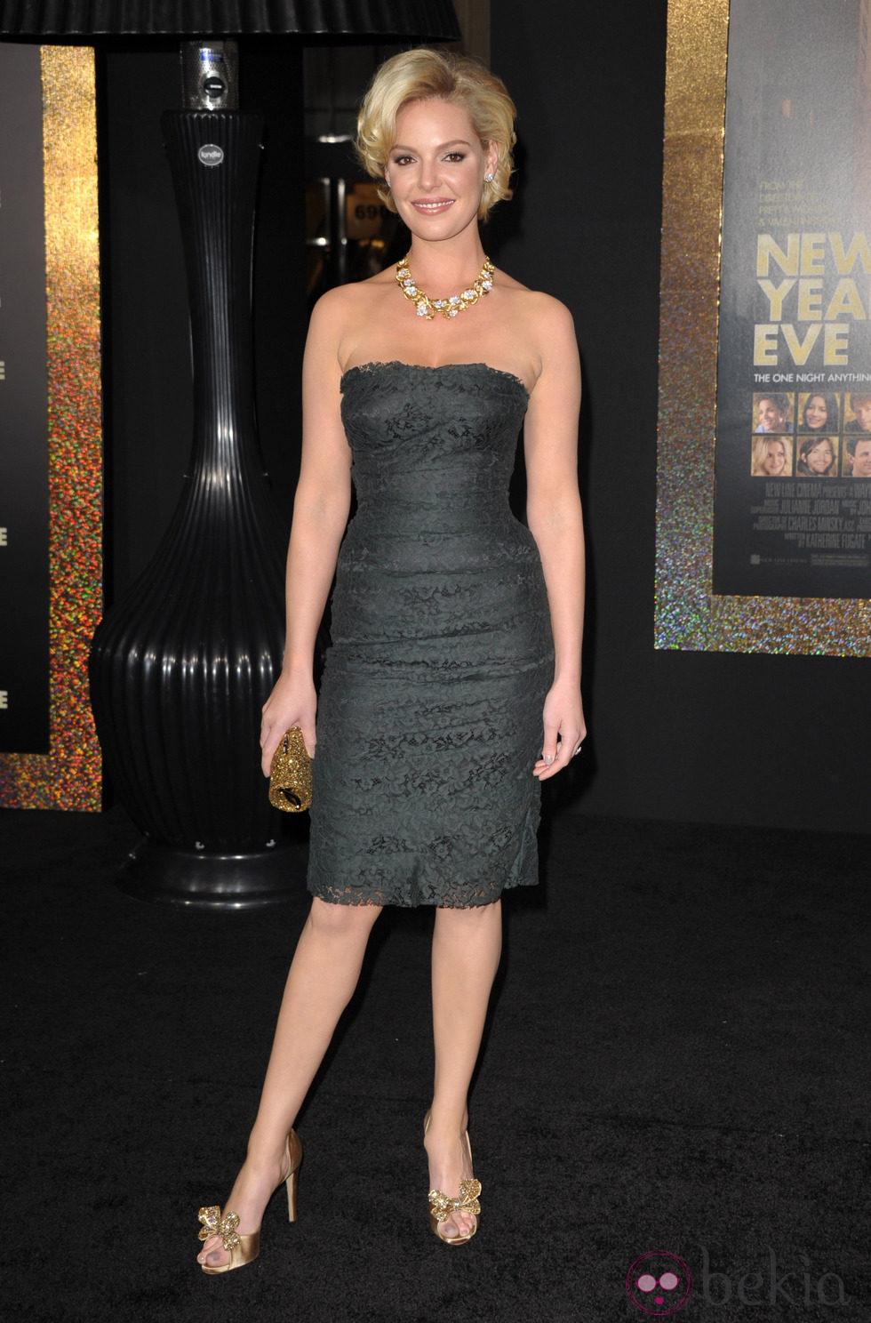 Katherine Heigl en el estreno de 'New Year's Eve' en Los Angeles