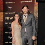Ashton Kutcher y Lea Michele en el estreno de 'New Year's Eve' en Los Angeles