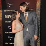 Ashton Kutcher y Lea Michele muy cómplices en el estreno de 'New Year's Eve' en Los Angeles