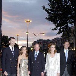 Los Reyes Felipe y Letizia, el Rey Juan Carlos, la Infanta Cristina e Iñaki Urdangarin en los Premios Laureus 2006