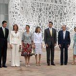 Los Reyes Juan Carlos y Sofía, los Reyes Felipe y Letizia, las Infantas Elena y Cristina e Iñaki Urdangarin