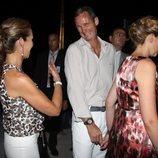 La Infanta Elena e Iñaki Urdangarin, muy cómplices en la boda de Nicolás de Grecia y Tatiana Blatnik