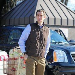 Iñaki Urdangarin con el carro de la compra