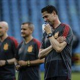 Fernando Hierro en el último entrenamiento de España antes de debutar en el Mundial de Rusia 2018