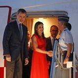 Los Reyes Felipe y Letizia a su llegada a Nueva Orleans
