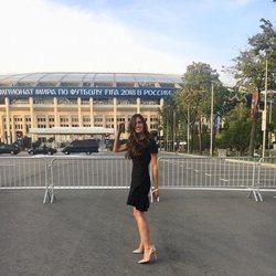 Sara Carbonero llegando a la gala de inauguración del Mundial de Rusia 2018