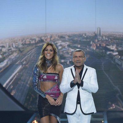 Lara Álvarez y Jorge Javier Vázquez  en la gala final de 'Supervivientes 2018'