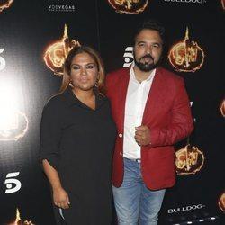 Saray Montoya y su marido, Jorge Rubio, en la Fiesta Final de 'Supervivientes 2018'