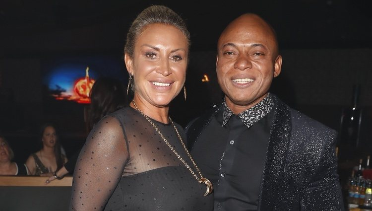 Raquel Mosquera y su pareja, Isi, en la Fiesta Final de 'Supervivientes 2018'
