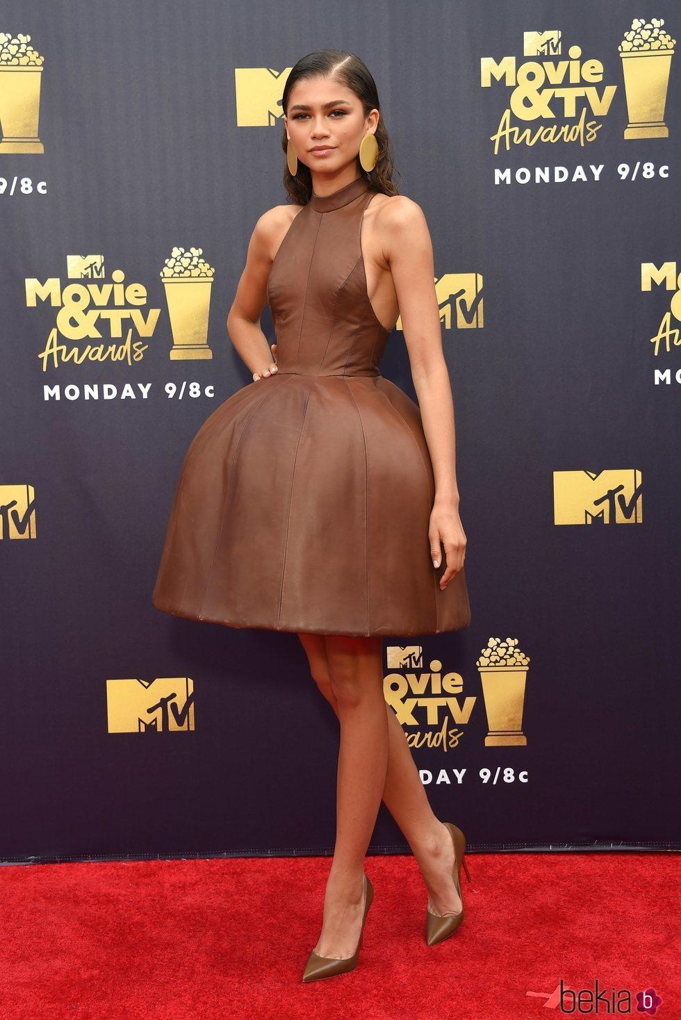Zendaya en la alfombra roja de los MTV Movie & TV Awards 2018