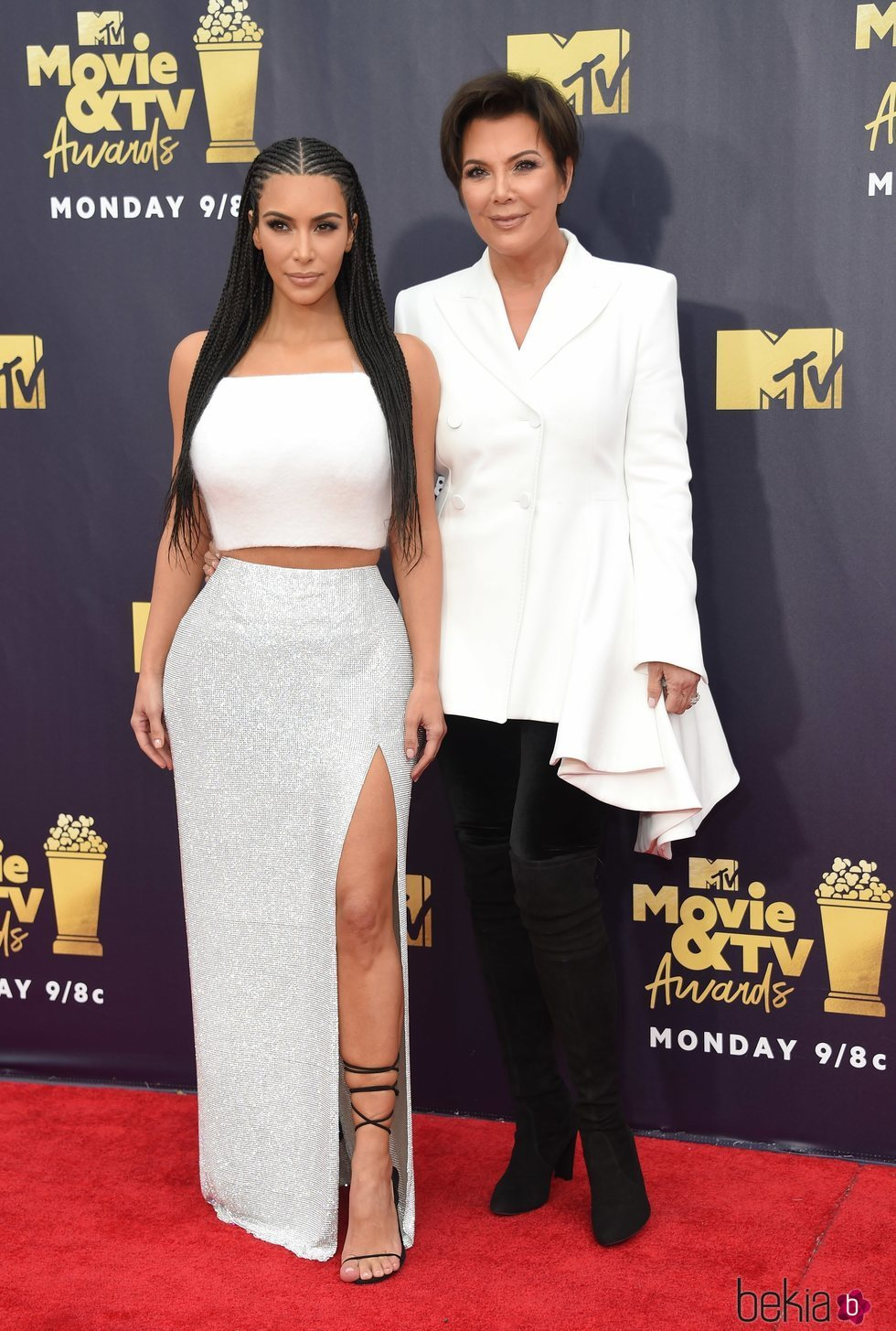 Kim Kardashian y Kris Jenner en los MTV Movie & TV Awards 2018