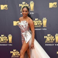 Tiffany Haddish llegando a los MTV Movie & TV Awards 2018