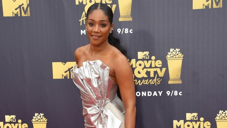 Tiffany Haddish llegando a los MTV Movie & TV Awards 2018