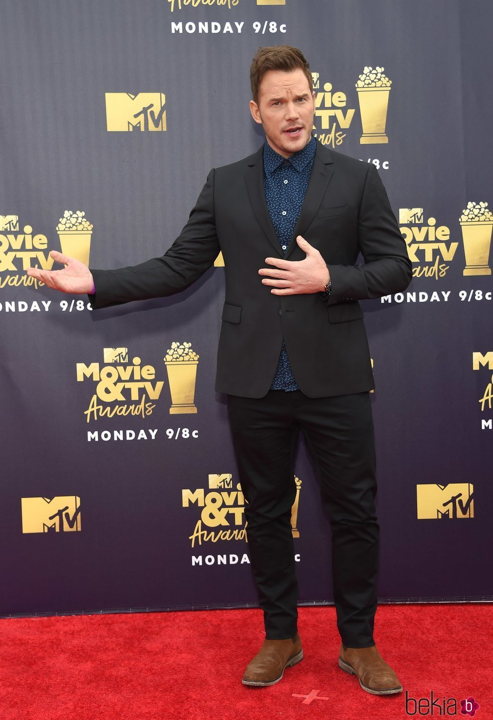Chris Pratt en los MTV Movie & TV Awards 2018