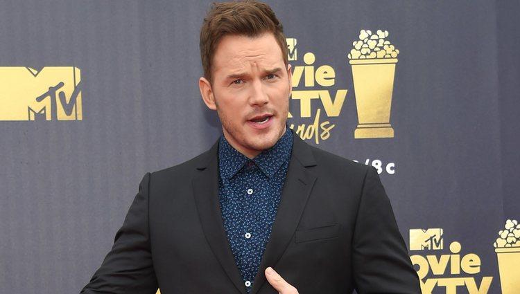 Chris Pratt en los MTV Movie & TV Awards 2018