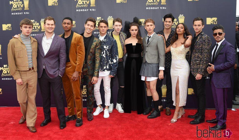 Elenco de 'Por trece razones' en los MTV Movie & TV Awards 2018