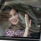 La Reina Letizia saludando en su visita a Nueva Orleans
