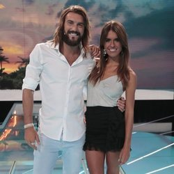 Logan Sampedro y Sofía Suescun en el debate final de 'Supervivientes 2018'