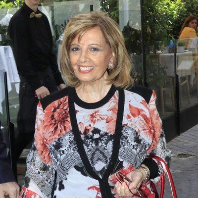 María Teresa Campos acudiendo a celebrar su cumpleaños