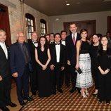Los Reyes Felipe y Letizia con Josep Borrell en una cena de gala en San Antonio