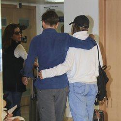 Manuel Díaz El Cordobés en el hospital con su hija Alba Díaz