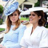 Las Princesas Eugenia y Beatriz de York llegando a Ascot 2018