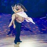 La complicidad entre David Bustamante y Yana Olina encima del escenario