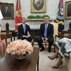 Los Reyes Felipe y Letizia con Donald Trump y Melania Trump en la Casa Blanca