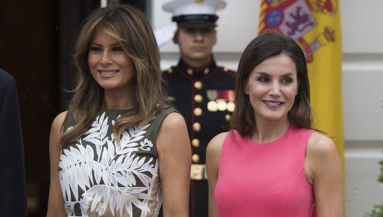 Buena relación entre Letizia y Melania Trump