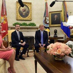 Los Reyes en el despacho oval de la Casa Blanca