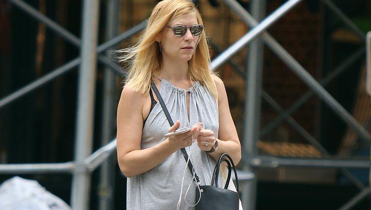 Claire Danes luce en las calles de Nueva York, su segundo embarazo