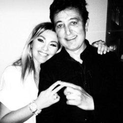 Amaia Montero con su amigo Manolo García