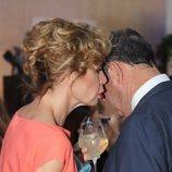 Luis Miguel Rodríguez El Chatarrero y Ágatha Ruiz de la Prada compartiendo secretos