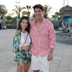 Diego Matamoros con su novia en la Summer Party 2018 del Parque Warner de Madrid
