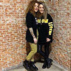 Sofía Cristo y Bruna Manzoni después de pinchar en una discoteca