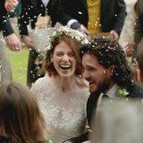 Kit Harington y Rose Leslie, muy sonrientes tras su boda