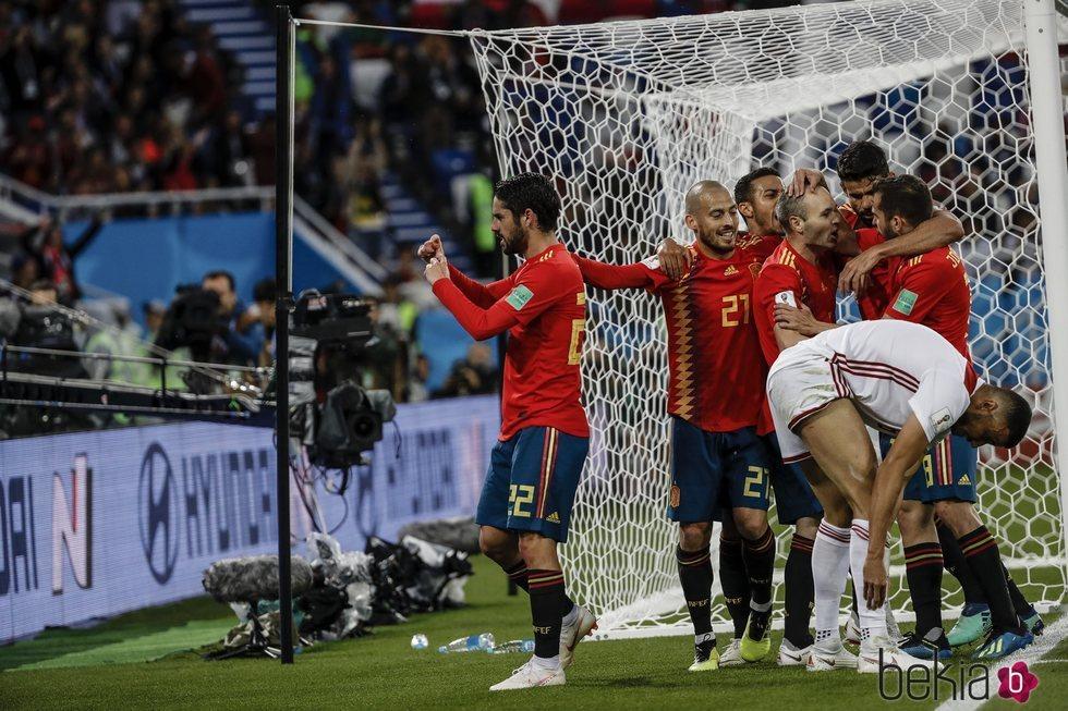 Isco Alarcón dedicando su gol frente a Marruecos del Mundial de Rusia 2018 a Sara Sálamo