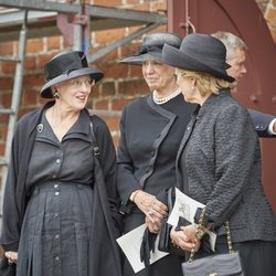 Margarita de Dinamarca con sus hermanas Benedicta de Dinamarca y Ana María de Grecia en el funeral de Elisabeth de Dinamarca