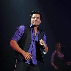Chayanne durante un concierto en Madrid en el año 2010
