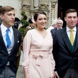 Luis, Alejandra y Sebastián de Luxemburgo en el Día Nacional de Luxemburgo 2018