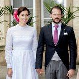 Félix de Luxemburgo y Claire Lademacher en el Día Nacional de Luxemburgo 2018
