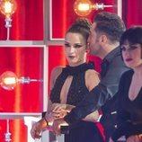 David Bustamante y Yana Olina viendo una de las actuaciones de 'Bailando con las estrellas'