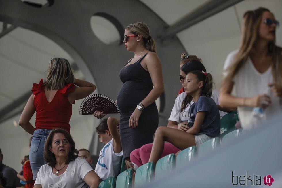 Jennifer Rueda en un entrenamiento de la Selección Española en Rusia